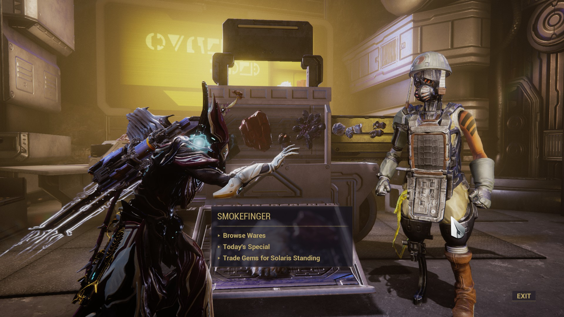 Warframe Smokefinger