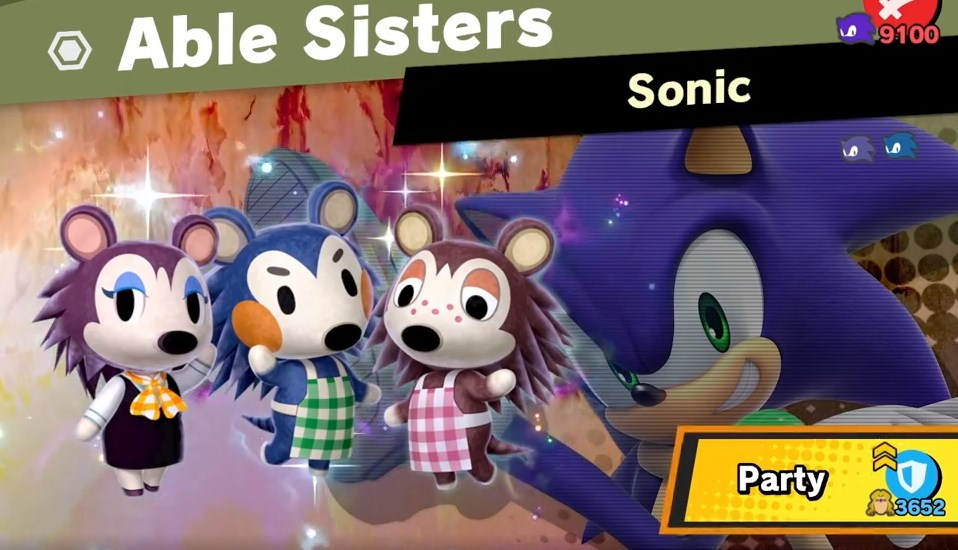 able sisters sonic super smash bros ultimate