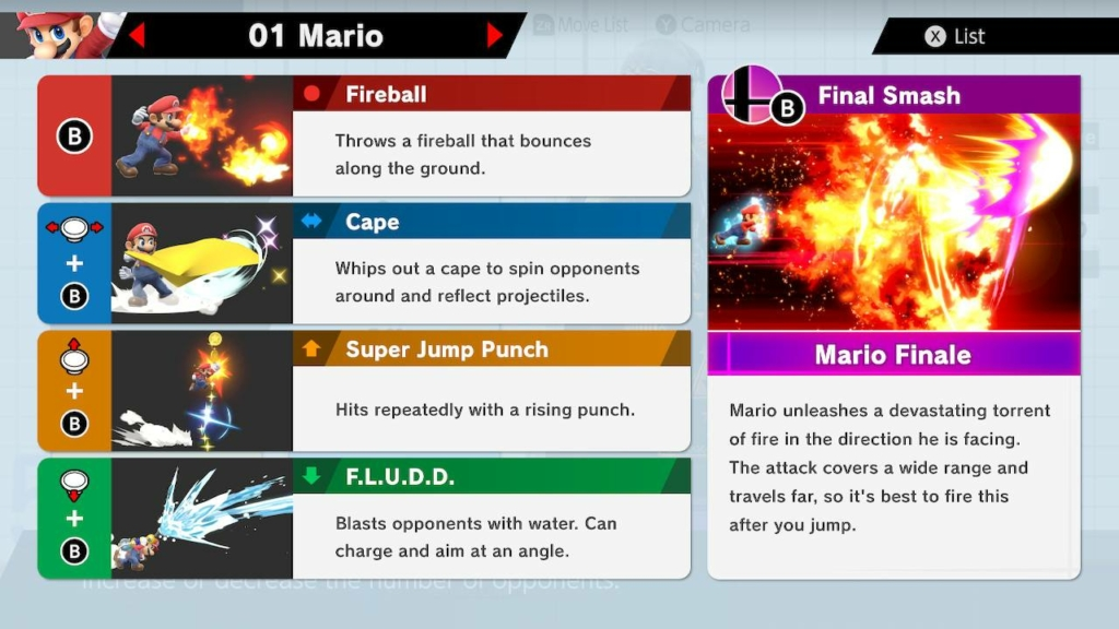 Smash Ultimate Mario Guide - Moves, Outfits, Strengths