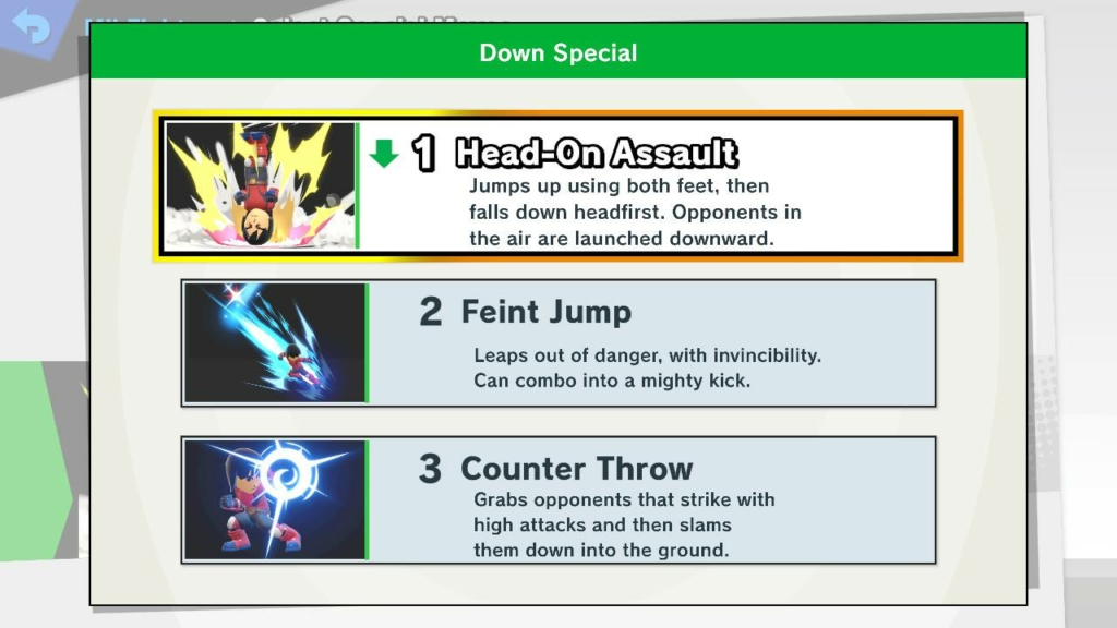 Mii Fighter Down Special