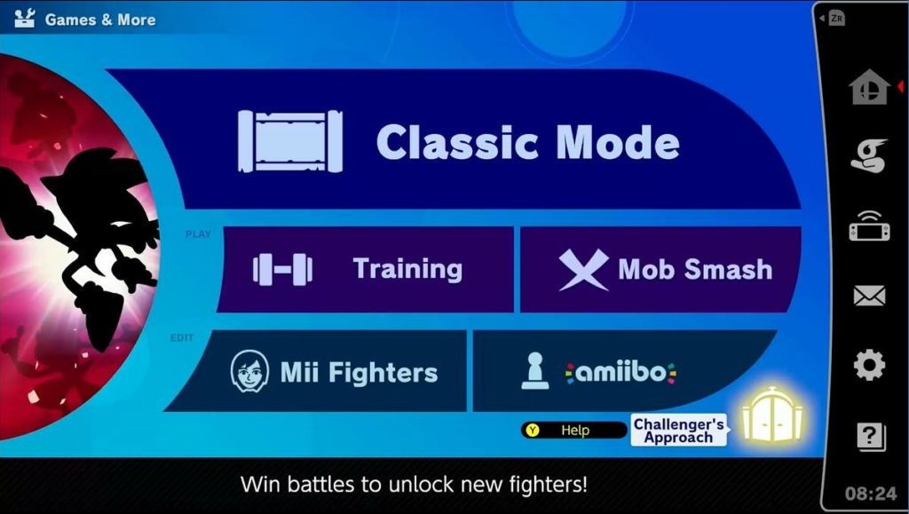 Smash Ultimate Challenger Approach