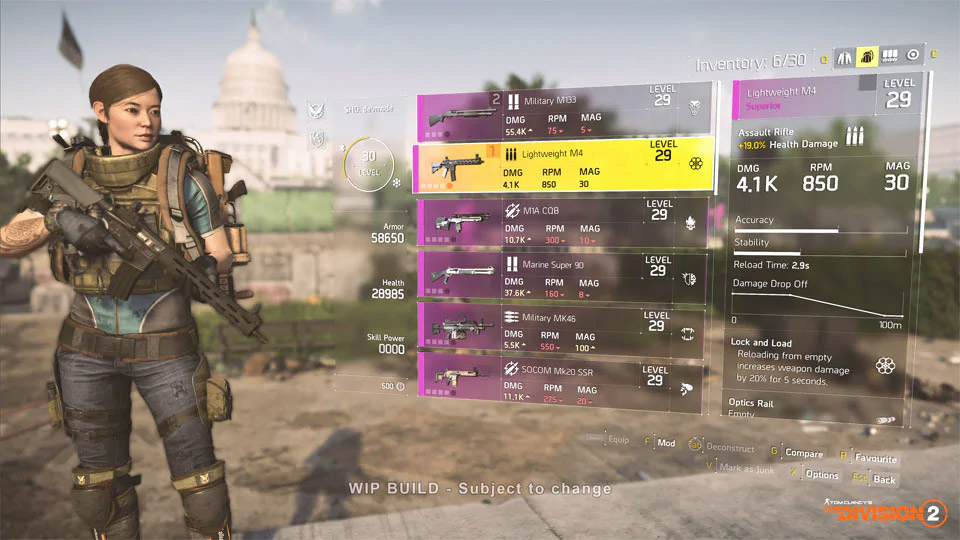 The Division 2 Weapons
