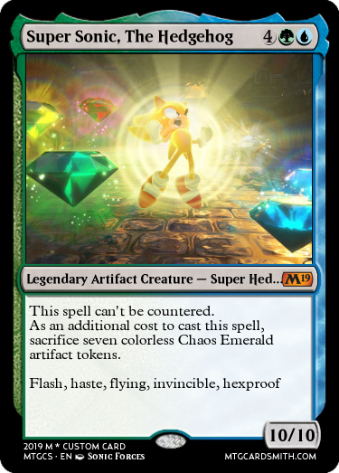 10 Sonic Characters Reimagined as Magic: The Gathering Arena Cards