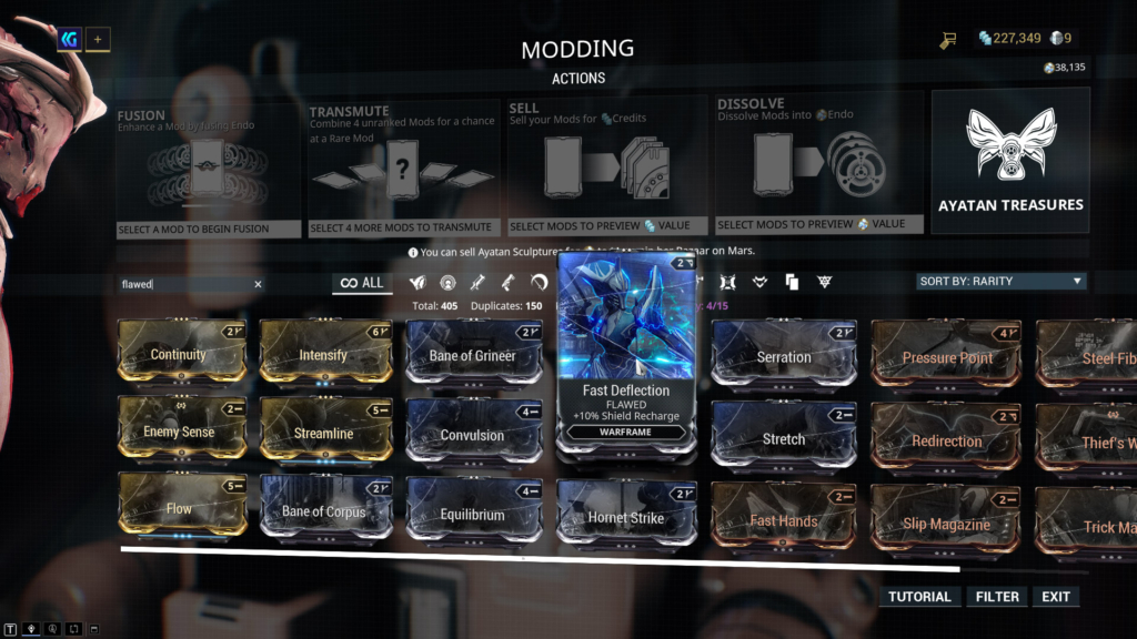Warframe Flawed Mods