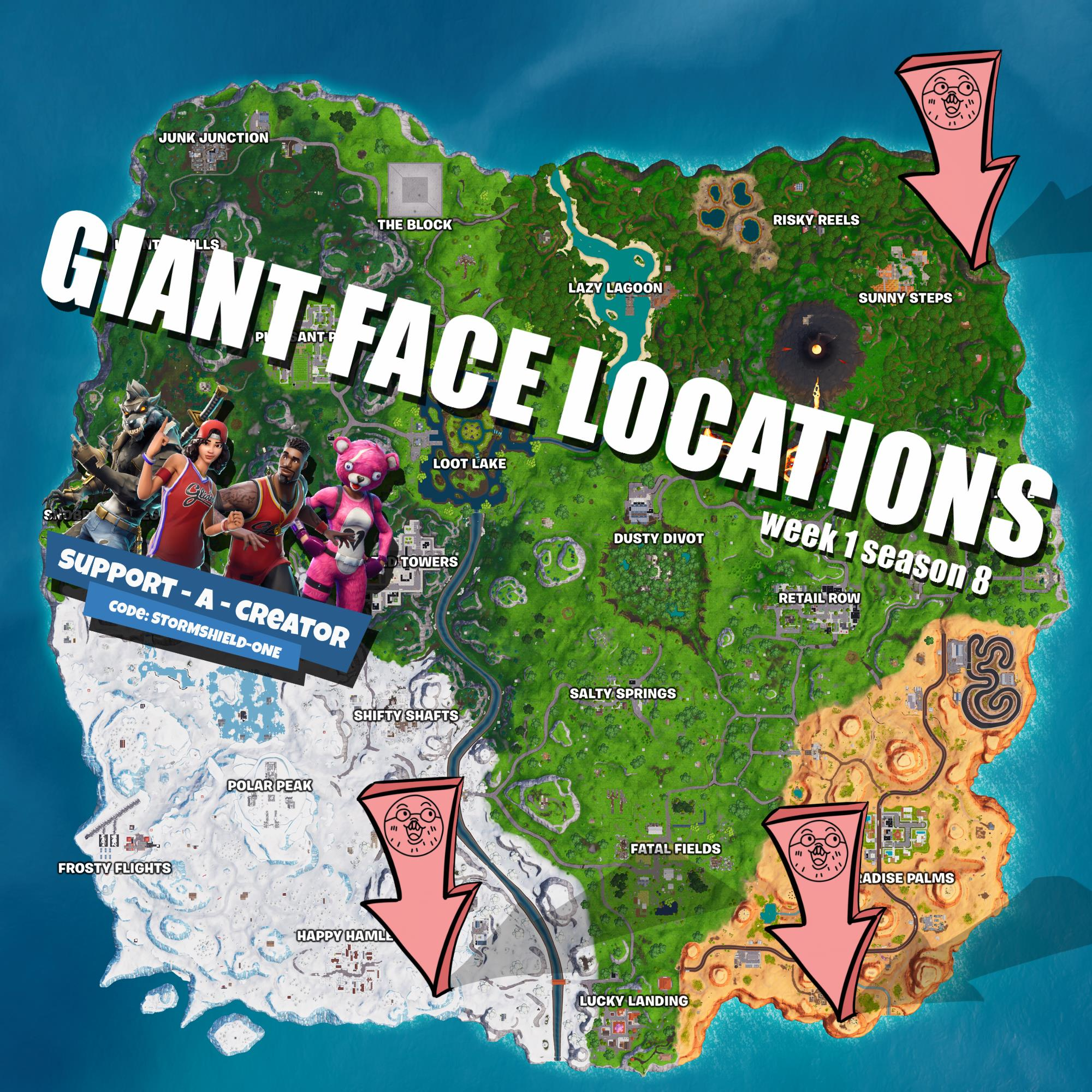 click for full resolution - fortnite visit a giant face map