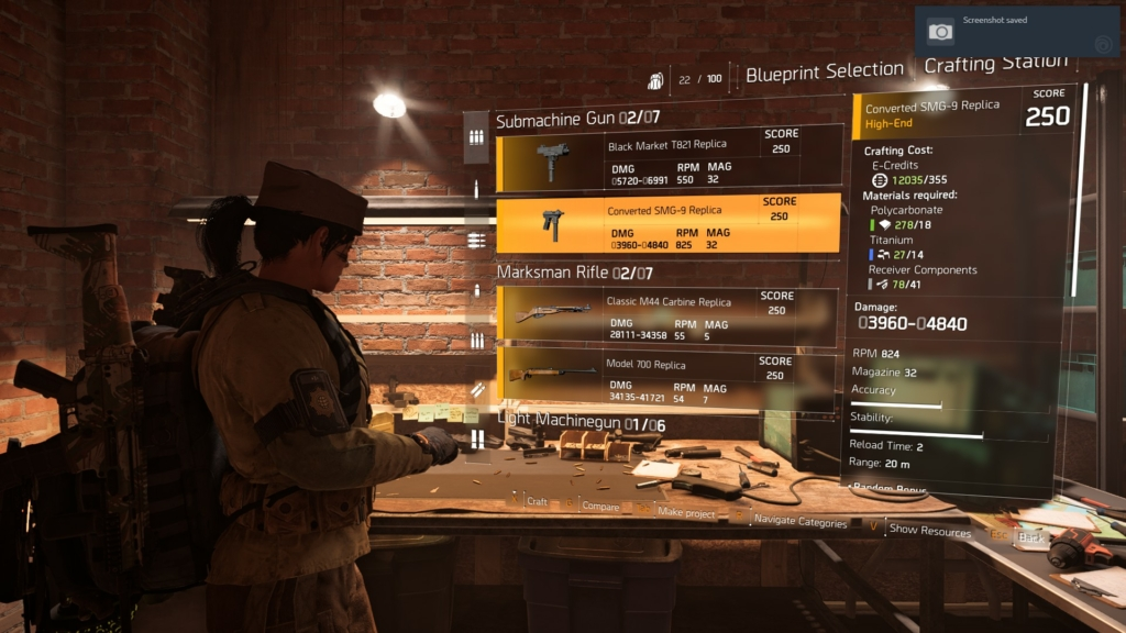 The Division 2 Crafting Guide: Tips on How & When to Make New Gear