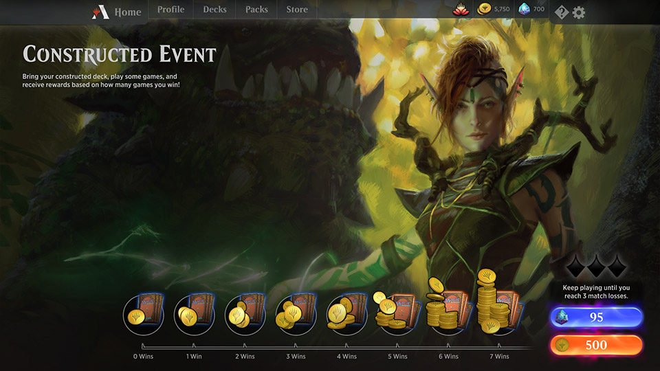 MTG Arena Constructed Events Guide - Rewards, Entry Fee, Tips