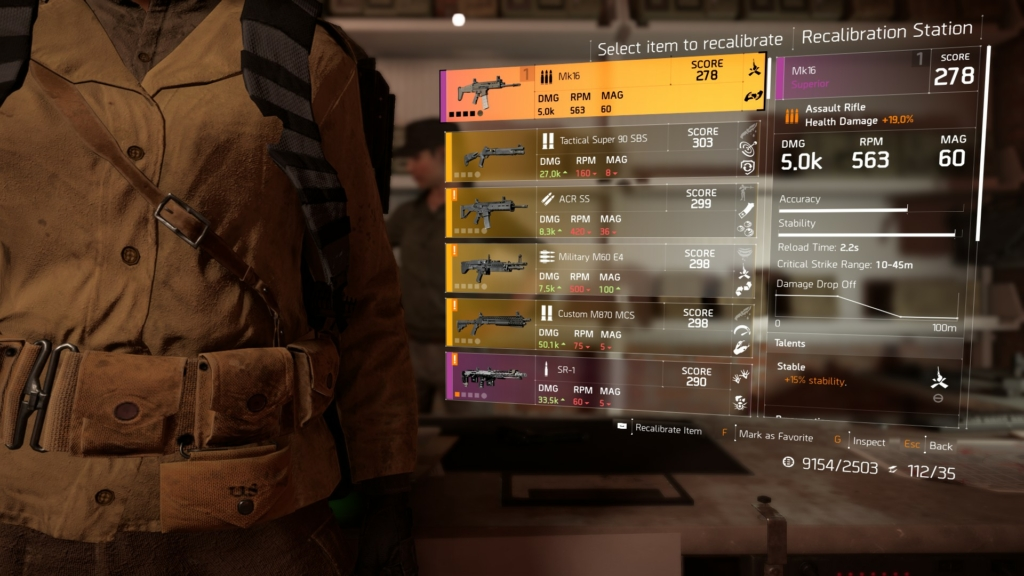 The Division 2 Recalibration Guide: How to Transfer Stats