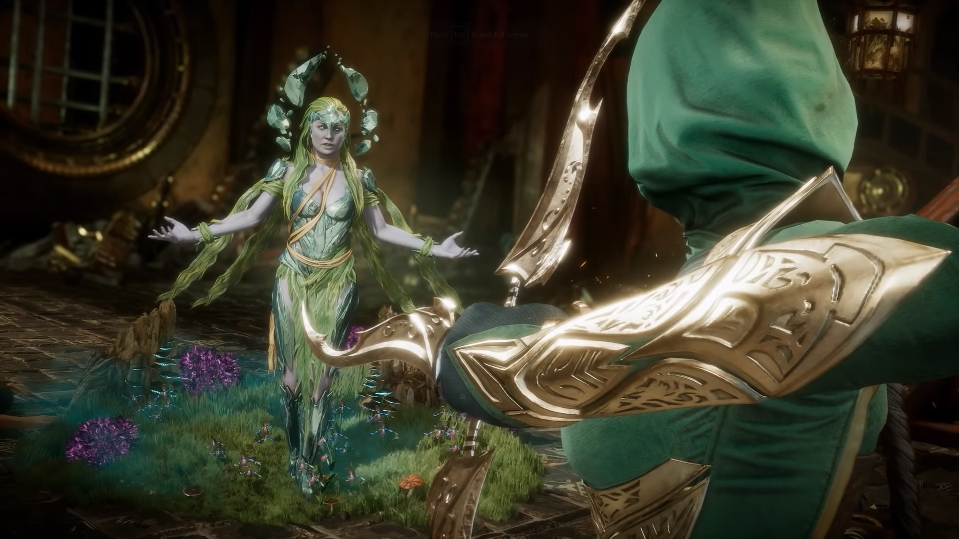 Mortal Kombat 11 Cetrion Gameplay and Character Selection
