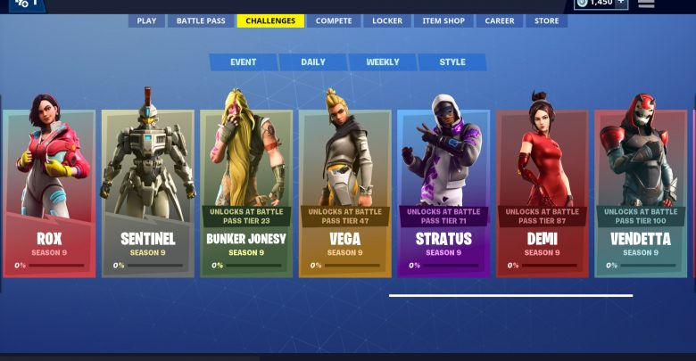 Fortnite Season 9 Skins Challenges Guide - All Cosmetic