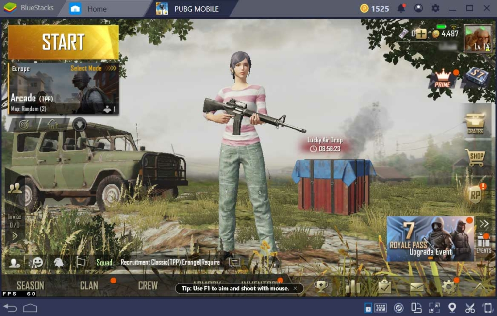 Bluestacks PUBG Mobile emulator