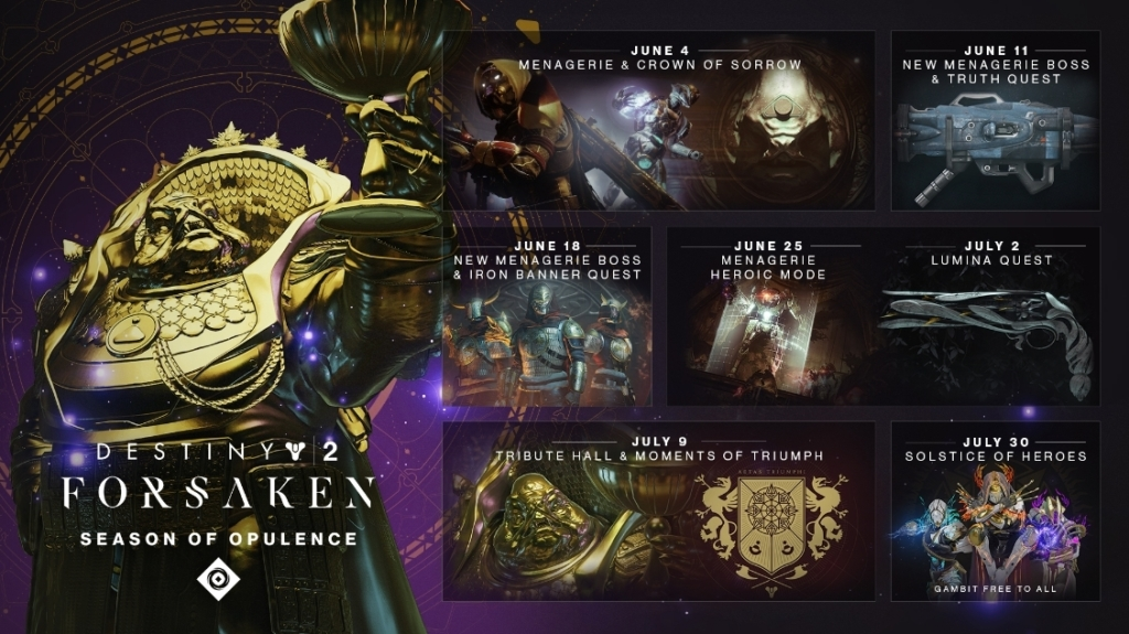 Destiny 2 Season of Opulence Info Guide: Release Date & New Raid