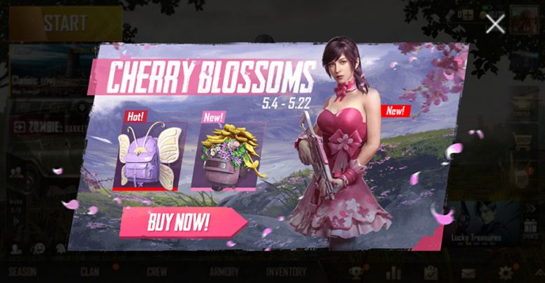 PUBG Mobile Cherry Blossom Skin Set Rates Are Rough