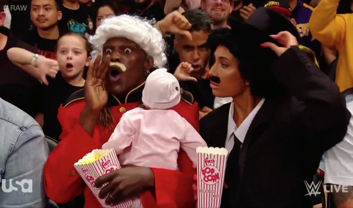 R-Truth and Carmella in disguise at Raw