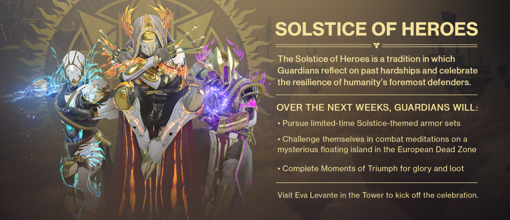 Destiny 2 Solstice of Heroes Guide - Armor Sets, Start Date