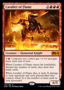 MTG Cavalier Of Flame