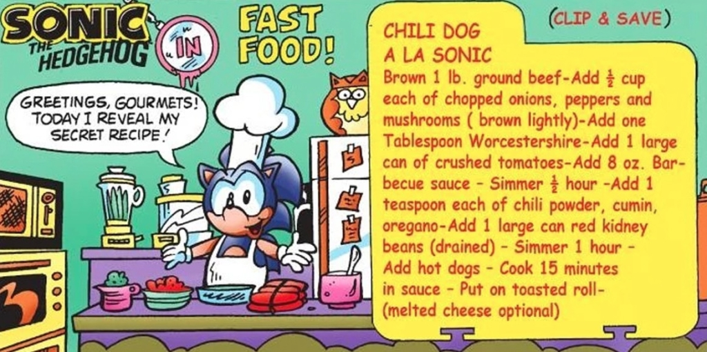 I Made Chili Dogs Using Sonic The Hedgehog S Official Recipe