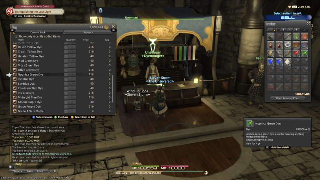 FF14 Fashion Report Week 76: Easy 80 Points This Week