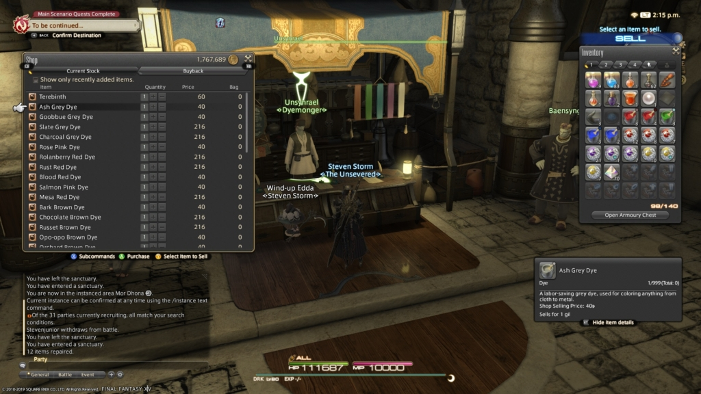 FF14 Fashion Report Week 77: Easy 80 Points This Week