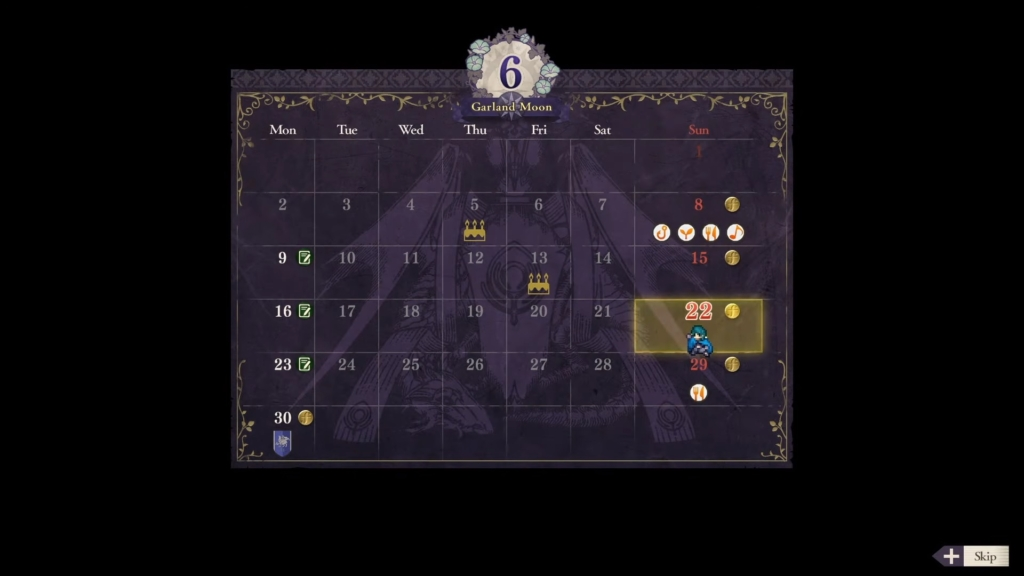 Fire Emblem Three Houses Calendar