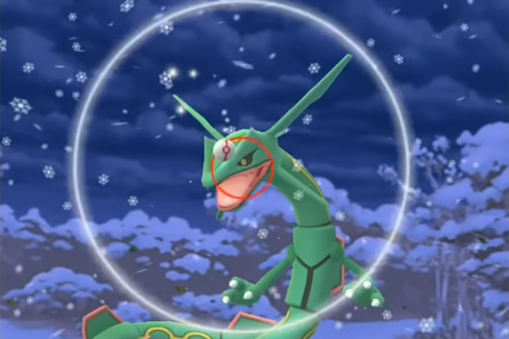 Shiny Rayquaza excellent throw