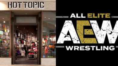Photo of All Elite Wrestling Partners with Hot Topic