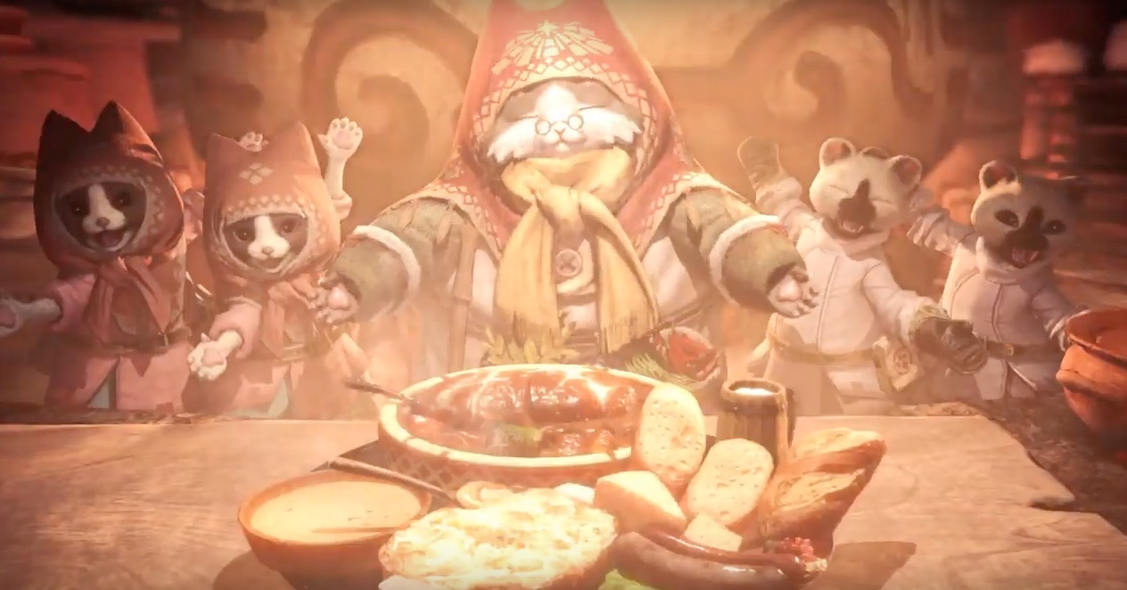 Cooking With Grammeowster Chef From Monster Hunter World Iceborne