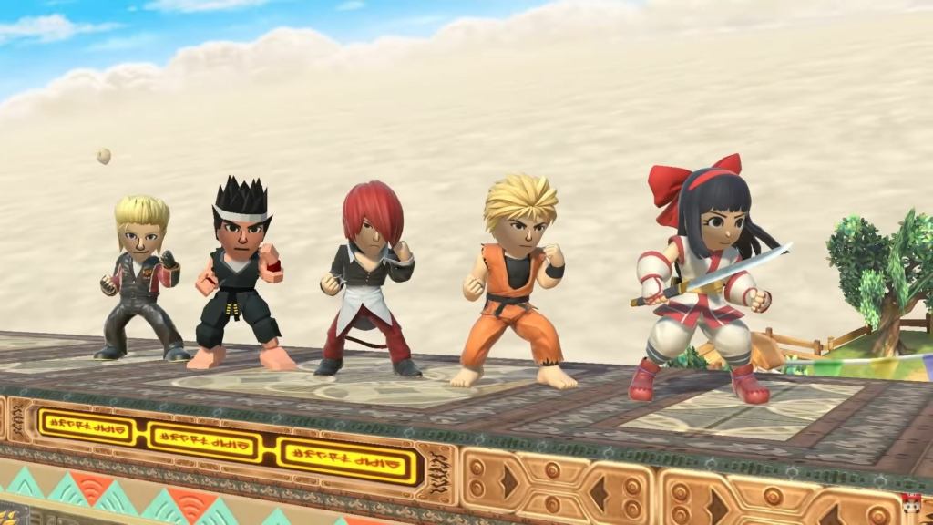smash ultimate snk fighter mii outfits