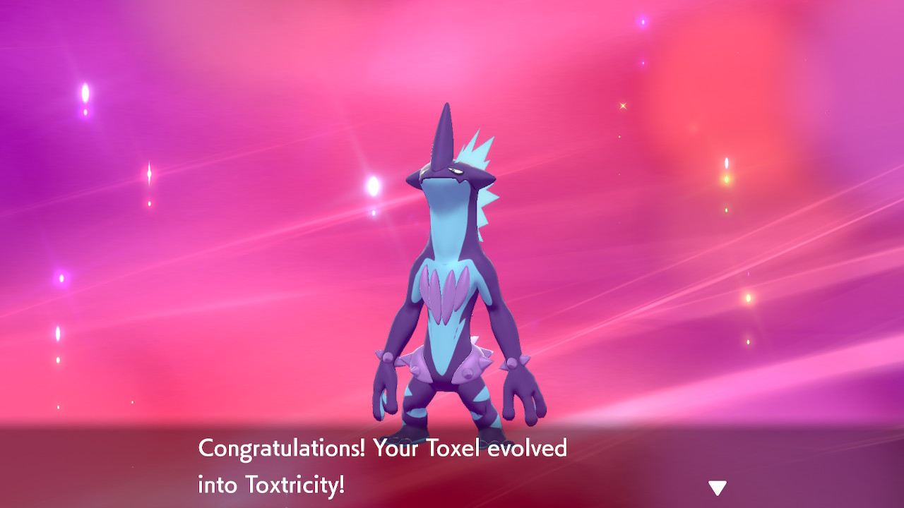 toxel evolved into toxtricity!