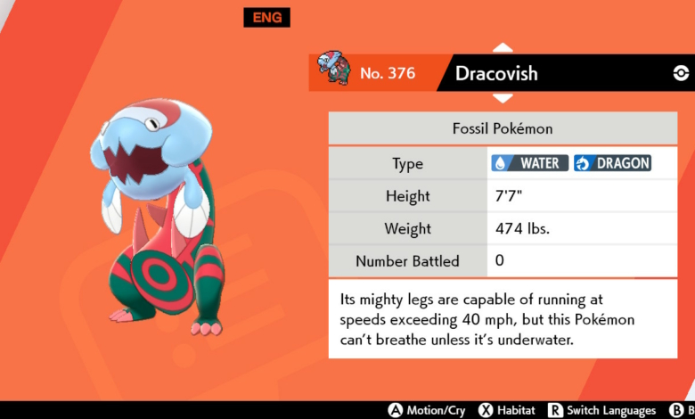 dracovish pokedex entry