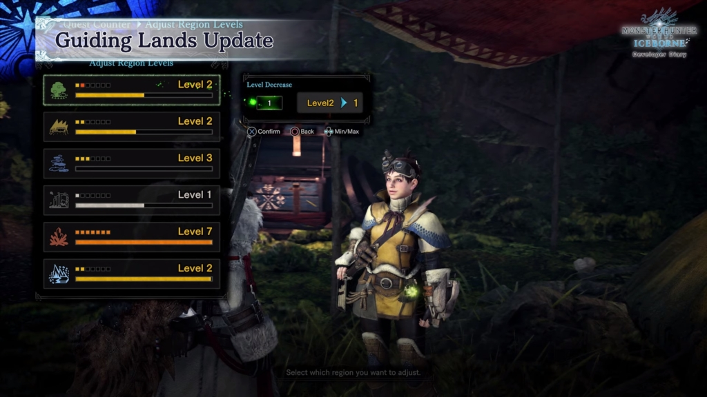 mhw guiding lands level