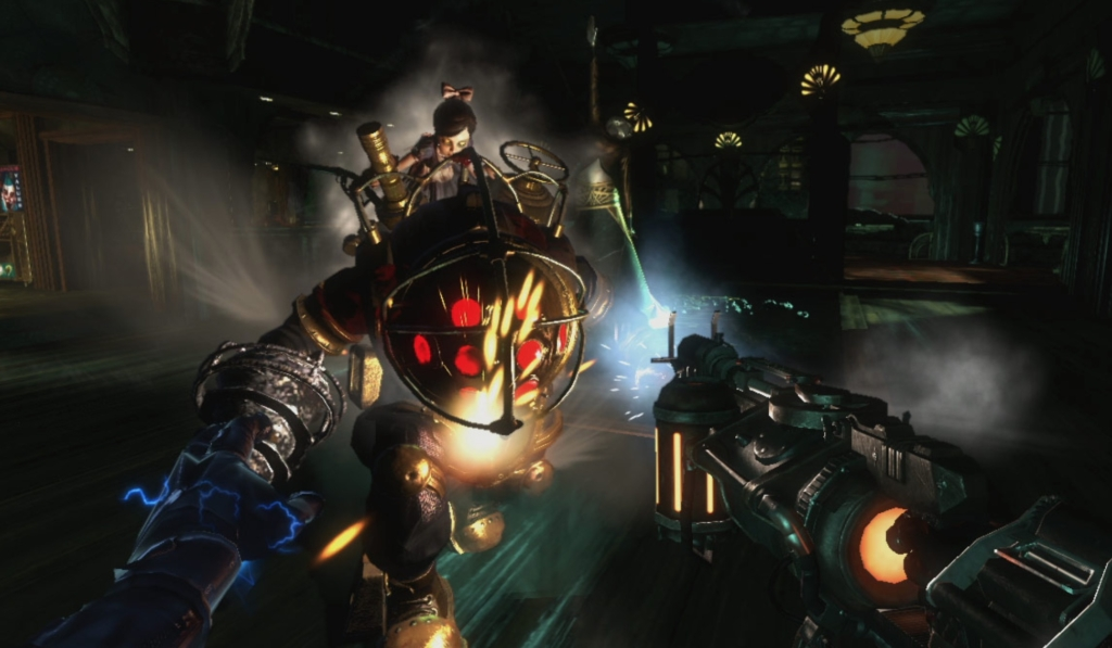 bioshock 2 big daddy and little sister