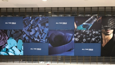 """Photo of This Mall Ad That Says """"All the Feels"""": A Review"""