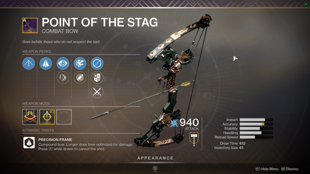 destiny 2 point of the stag