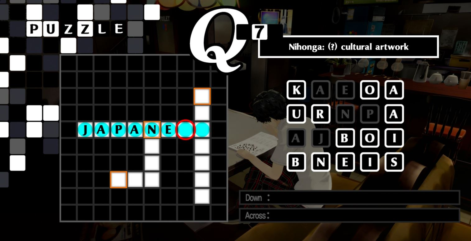 Persona 5 Royal Crossword Puzzle Answers