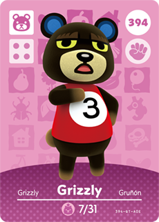 animal crossing grizzly