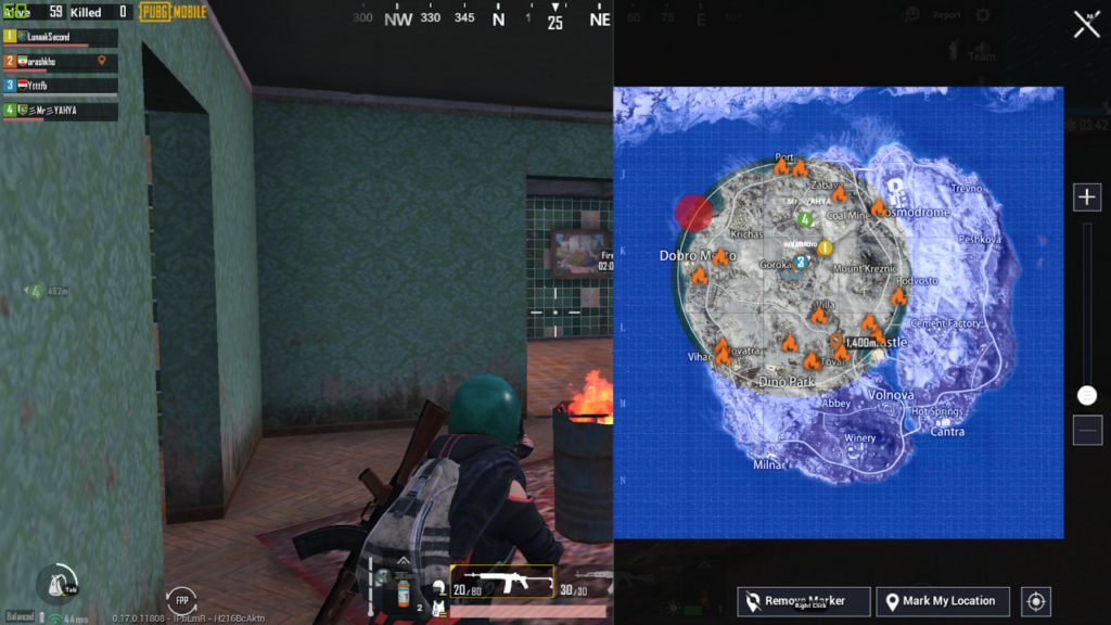 PUBG Mobile Arctic Mode map
