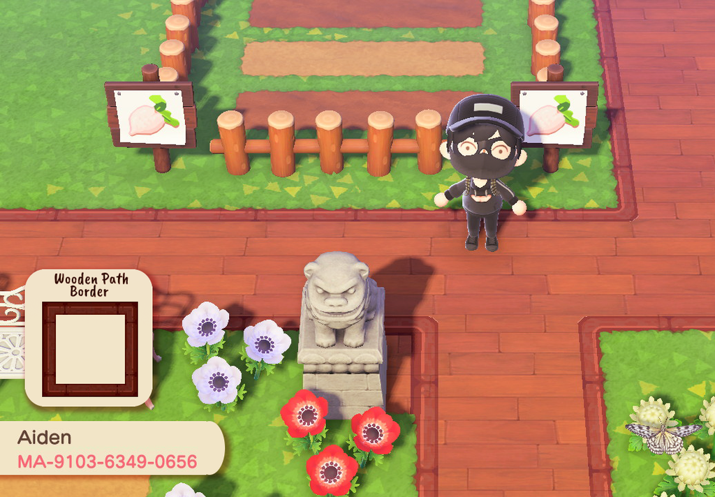 animal crossing path designs flowers