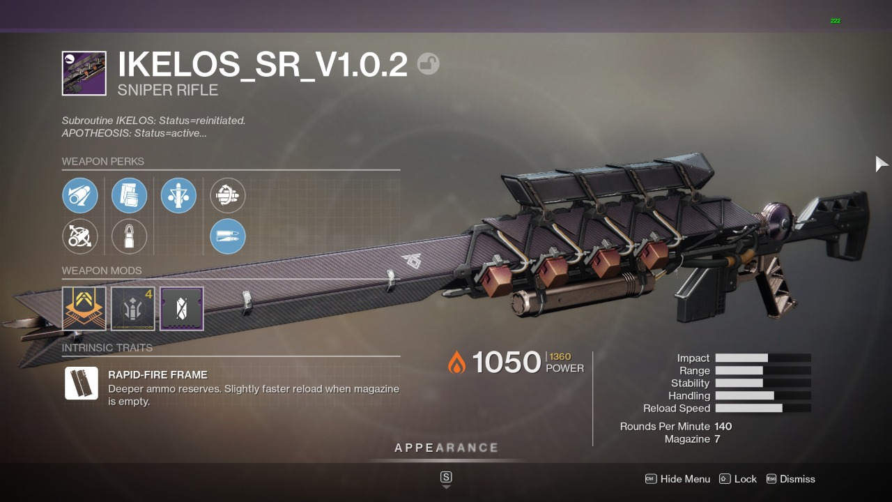 Destiny 2 Ikelos Sr Guide How To Get The Ikelos Sniper The God Roll