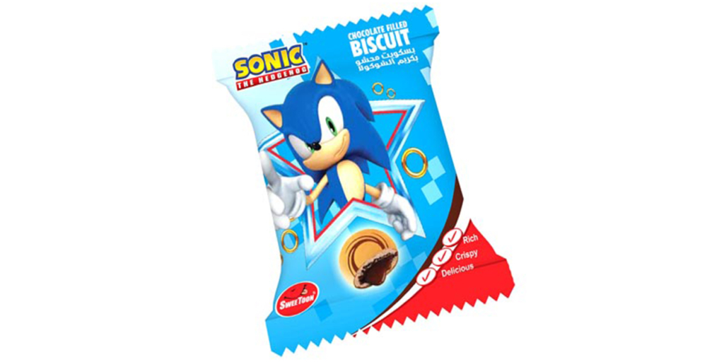 Sonic Chocolate Filled Biscuits