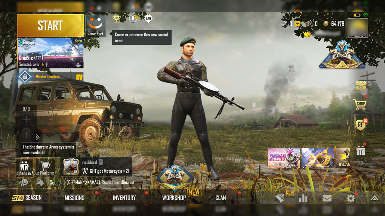 PUBG Mobile 1.0 interface changes