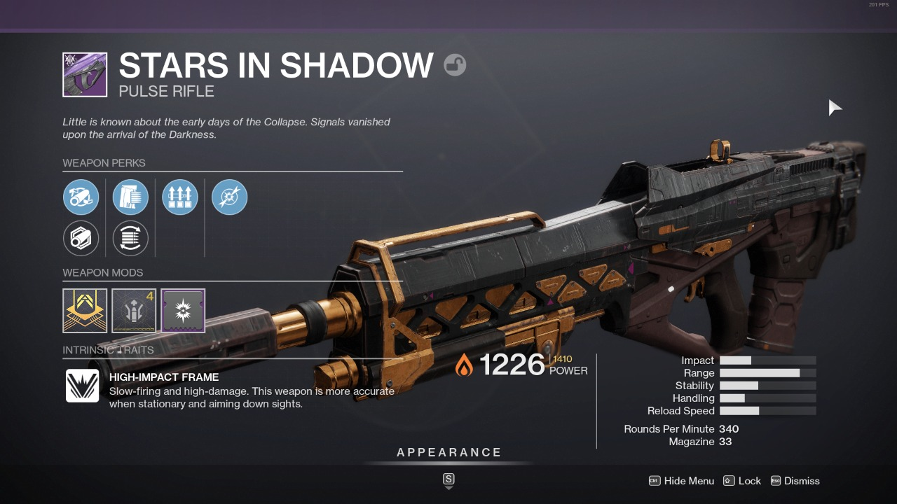 Destiny 2 Stars In Shadow Guide Stars In Shadow God Roll How To Get It