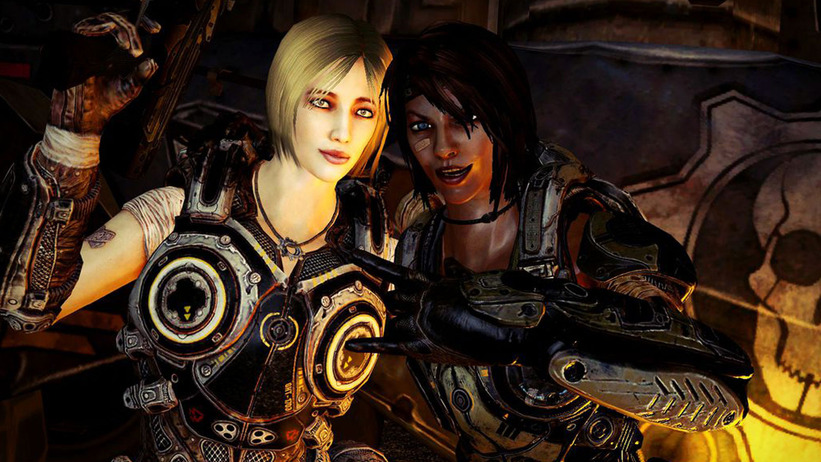 Later Gears of War games have included more women among the main heroes. Pictured: Anya and Sam from Gears of War 3.